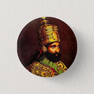 Bóton Redondo 2.54cm Haile Selassie império of Ethiopia Rastafari