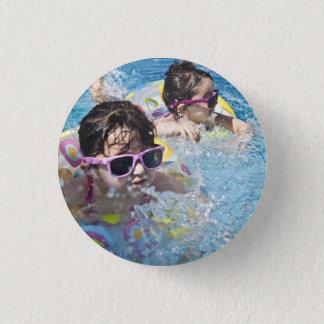 Bóton Redondo 2.54cm HAMbWG - botão quadrado - 2 meninas do lil na