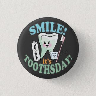 Bóton Redondo 2.54cm Higienista dental do dentista engraçado