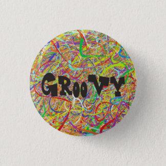 Bóton Redondo 2.54cm Hippie Groovy colorido