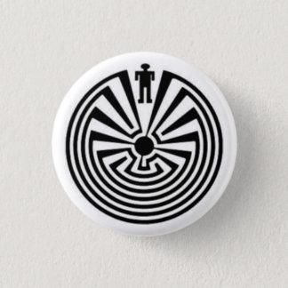 Bóton Redondo 2.54cm HOMEM no botão nativo de Tohono O'odham do HOPI do