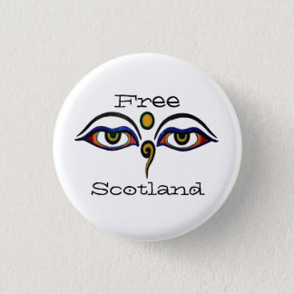 Bóton Redondo 2.54cm Indy Scotland Buddha Eyes o crachá do botão da