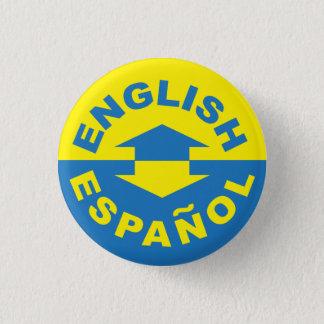 Bóton Redondo 2.54cm Inglês Español - eu falo o espanhol