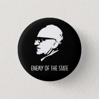 Bóton Redondo 2.54cm Inimigo de Rothbard do estado