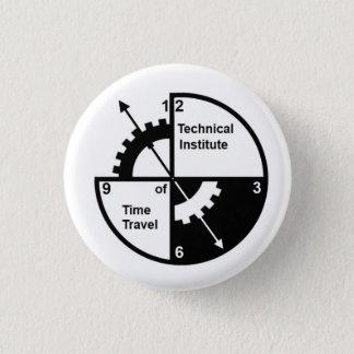 Bóton Redondo 2.54cm Instituto técnico do botão do viagem do tempo