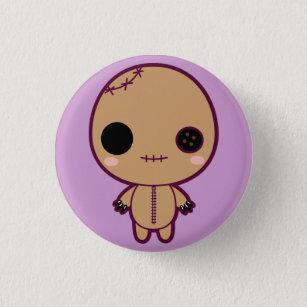Bóton Redondo 2.54cm Itami a boneca do VooDoo