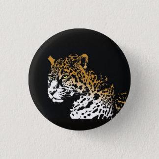 Bóton Redondo 2.54cm Jaguar - fundo preto