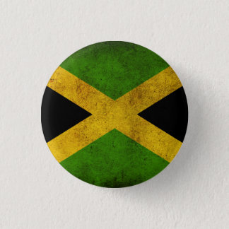 Bóton Redondo 2.54cm Jamaica Flag - Proud Jamaicans Rasta Button -