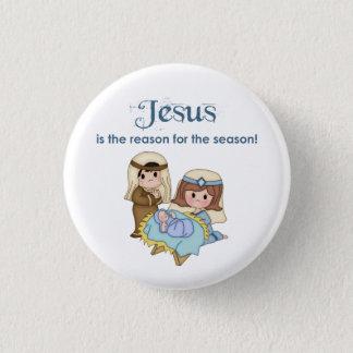 Bóton Redondo 2.54cm Jesus é a razão para o botão da natividade da