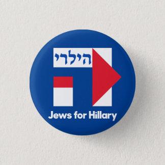 Bóton Redondo 2.54cm JUDEUS HEBREUS para o pino 2016 do presidente de