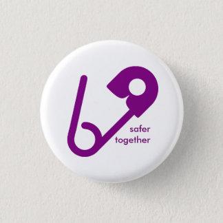 Bóton Redondo 2.54cm Junto botões mais seguros do Pin de segurança