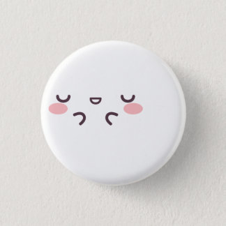 Bóton Redondo 2.54cm Kaomoji cora botão