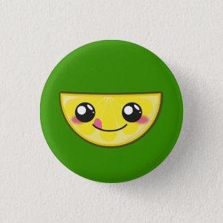 Bóton Redondo 2.54cm Kawaii, divertimento e botão redondo do limão