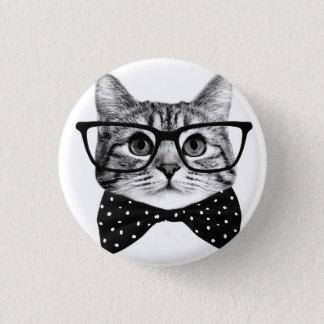 Bóton Redondo 2.54cm laço do gato - gato dos vidros - gato de vidro