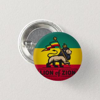 Bóton Redondo 2.54cm Lion of Zion - Haile Selassie Rastafari Button -
