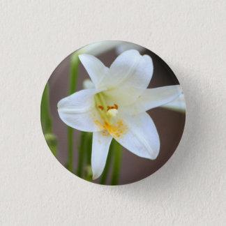 Bóton Redondo 2.54cm Lírio no pino da flor