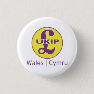 Bóton Redondo 2.54cm Logotipo de UKIP Wales Cymru