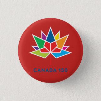 Bóton Redondo 2.54cm Logotipo do oficial de Canadá 150 - multicolorido