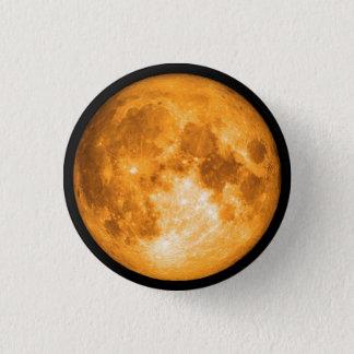 Bóton Redondo 2.54cm Lua cheia alaranjada