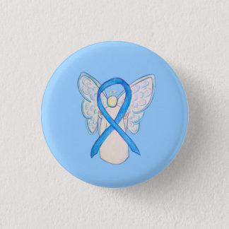 Bóton Redondo 2.54cm Luz - botões azuis do Pin da arte do anjo da fita