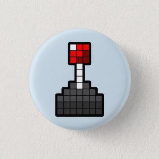 Bóton Redondo 2.54cm Luz do manche do pixel - azul