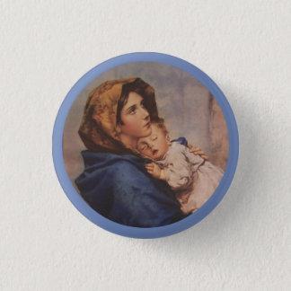 Bóton Redondo 2.54cm Madonna da rua com bebê Jesus