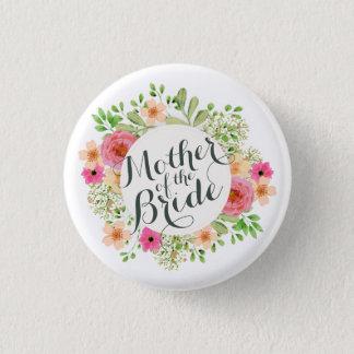 Bóton Redondo 2.54cm Mãe da noiva que Wedding o botão do Pin