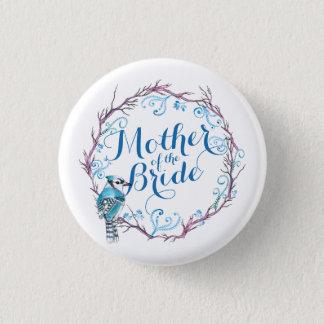 Bóton Redondo 2.54cm Mãe do pássaro azul da noiva que Wedding o botão