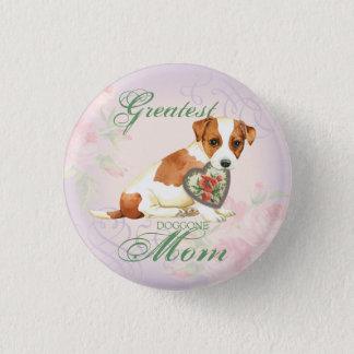 Bóton Redondo 2.54cm Mamã do coração de Russell Terrier