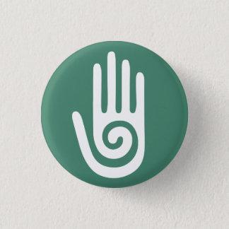 Bóton Redondo 2.54cm Mãos curas da mão espiral