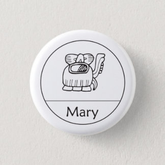 Bóton Redondo 2.54cm Mary no botão maia