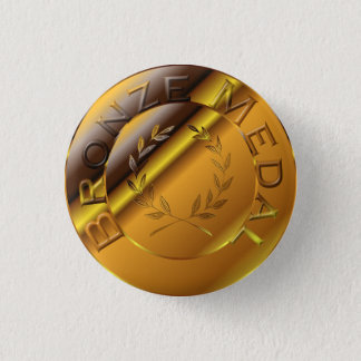 Bóton Redondo 2.54cm Medalha de bronze
