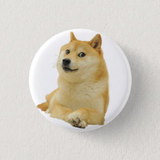 Bóton Redondo 2.54cm meme do doge - doge cão-bonito do doge-shibe-doge