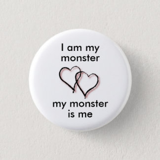 Bóton Redondo 2.54cm Meu botão do monstro