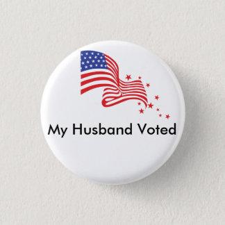 Bóton Redondo 2.54cm Meu marido votado!