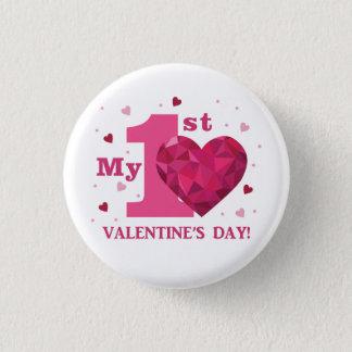 Bóton Redondo 2.54cm Meu ø botão do dia dos namorados