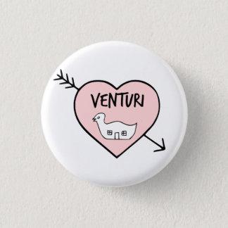 Bóton Redondo 2.54cm Mim botão de Robert Venturi do coração