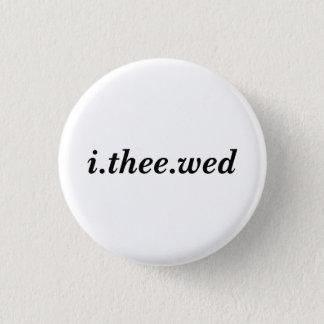 Bóton Redondo 2.54cm Mim botão de Thee quarta-feira