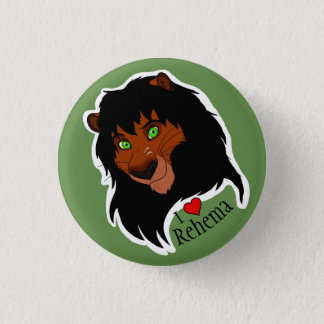 """Bóton Redondo 2.54cm Mim botão pequeno de Rehema do """"coração"""""""