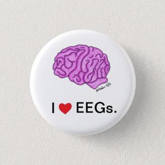"""Bóton Redondo 2.54cm """"Mim [coração] botão de EEGs"""""""