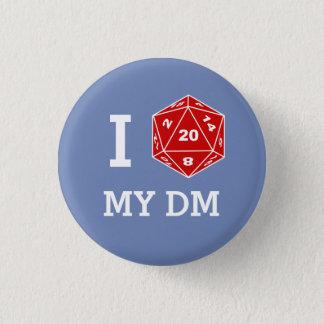 Bóton Redondo 2.54cm Mim d20 meu botão do DM (amor de I meus DM)