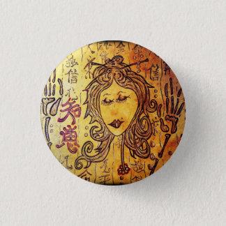 Bóton Redondo 2.54cm Mini botão de Hitomi