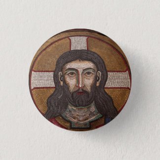 Bóton Redondo 2.54cm Mosaico de Jesus