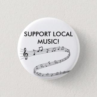 Bóton Redondo 2.54cm Mostre orgulhosa seu apoio para a música local!