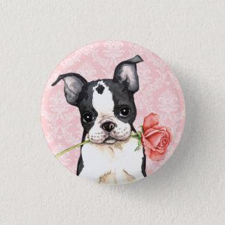 Bóton Redondo 2.54cm Namorados Boston cor-de-rosa Terrier
