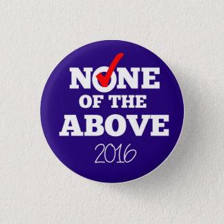 Bóton Redondo 2.54cm NENHUNS do botão 2016 ACIMA