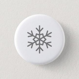 Bóton Redondo 2.54cm Neve que cai no botão do floco de neve de