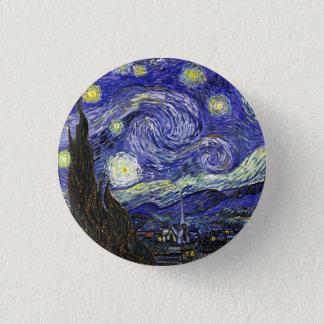 Bóton Redondo 2.54cm Noite estrelado por Vincent van Gogh