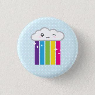 Bóton Redondo 2.54cm Nuvem de Kawaii e botão do arco-íris