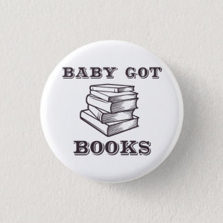Bóton Redondo 2.54cm O bebê obteve livros